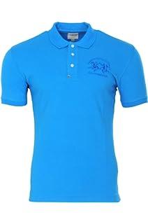 La Martina Polo Poloshirt Homme Turquoise Bleu Slim Fit Cotton Casual S