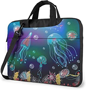 Jellyfish Ocean World Laptop Case 14 Inch Carrying Case with Strap