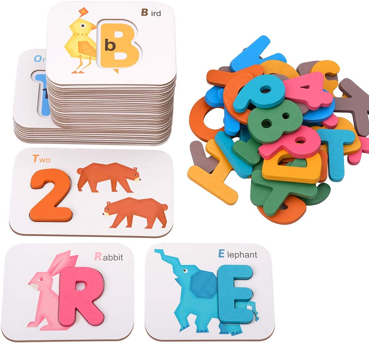 Coogam Numbers and Letters Flash Cards for learning numbers