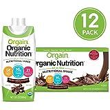 Orgain 营养奶昔,奶油巧克力软糖 - 代餐 ,16 克蛋白质,21 种维生素和矿物质,不含麸质,不含大豆,犹太洁食,11 盎司(330ml),12瓶(包装可能有所不同)