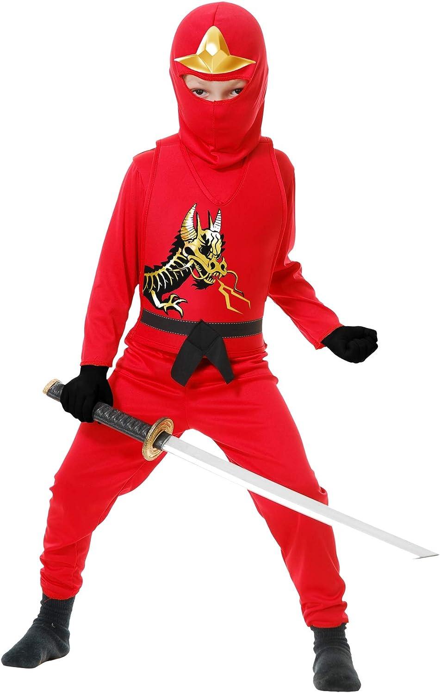 Charades Ninja Avenger Series II Childs Costume, Red, X-Large