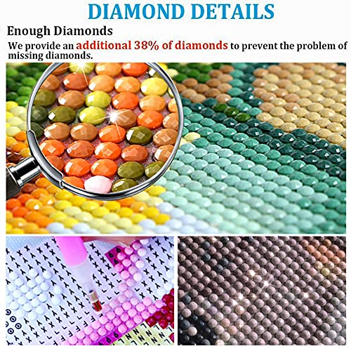 DIY 5D Diamond Painting Kits for Adults Kids Beginners, Large Diamond Painting Full Drill Round Diamond Dots Cats, Diamond Art Kits for Adults Home Wall Decor (31.5x11.8inch)