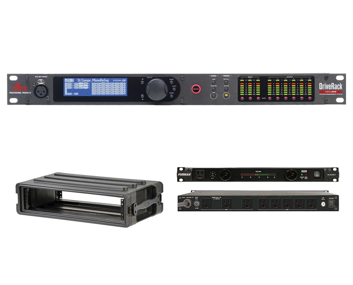 dbx DriveRack VENU360 + SKB 1SKB-R2S + Furman PL-Plus C