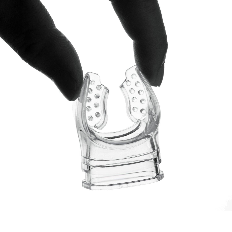 weich und bequem; Ersatz-Mundst/ück f/ür Atemregler 2 St/ück transparentes Schnorchelmundst/ück aus Silikon Floratek