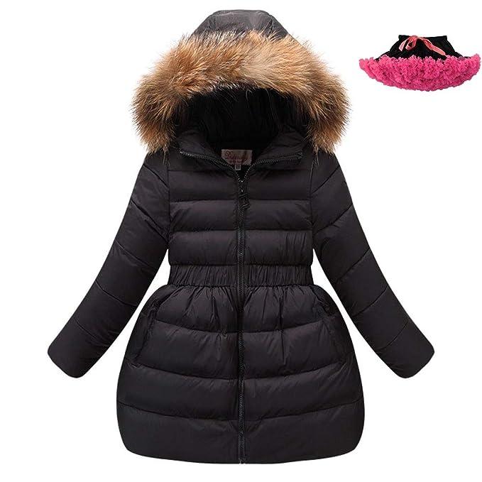 Amazon.com: LSERVER - Chaqueta de invierno para niñas con ...