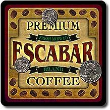 Escabar Coffee Neoprene Rubber Drink Coasters - 4 Pack