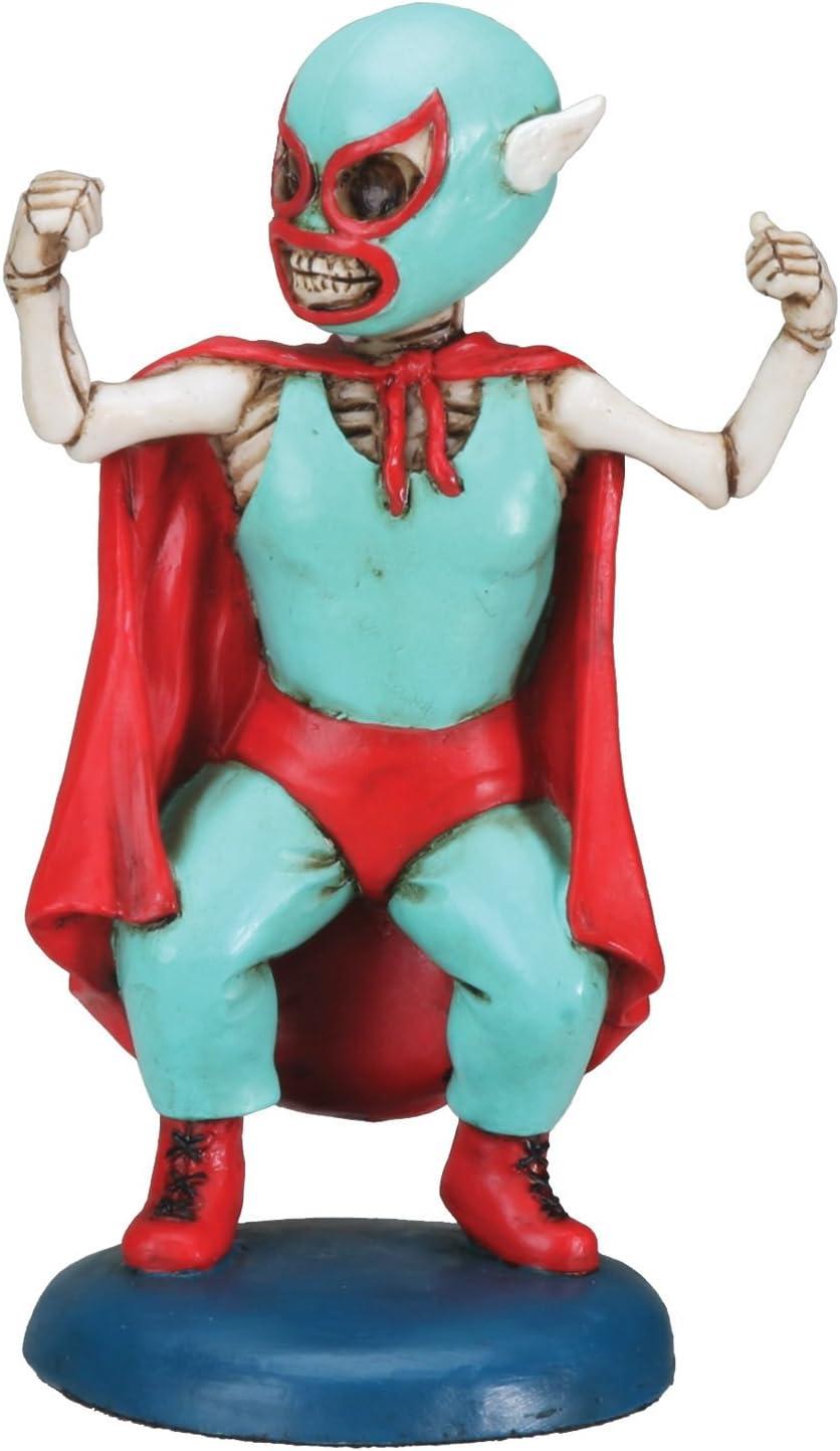 Day of The Dead Mini Lucha Dore Wrestler Skeleton Figurine