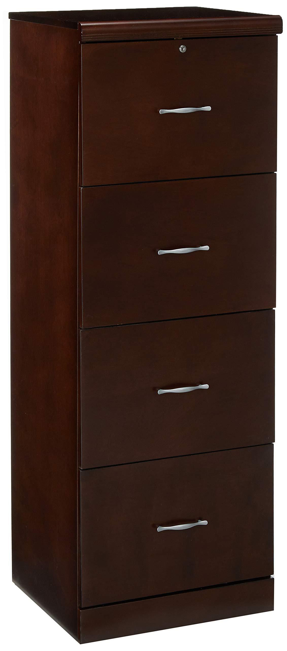 Z-Line Designs ZL8880-24VFU 4-Drawer Vertical File Cabinet, Espresso