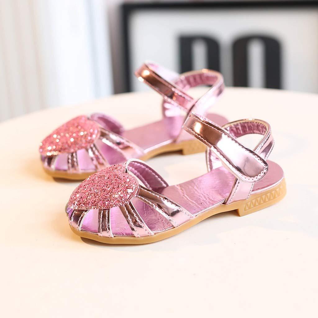 letter54 Baby Girls Shoes Kilt 2019 New Flat Children Shoes School Shoes Princess School Shoes Princess 6.5-14 UK Children/Kids Baby Girls Cute Heart Bling Sequins Sandals Princess Casual/Shoes