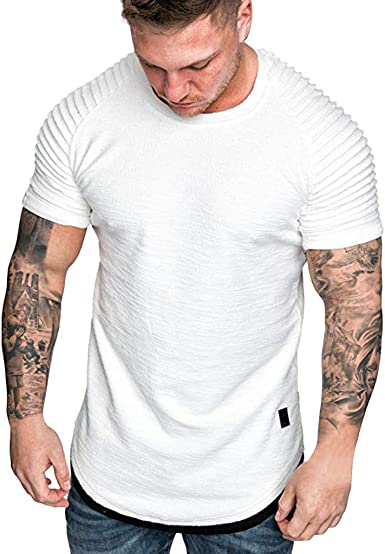 Camiseta Deportiva para Hombre, Camiseta Manga Corto Tops Verano Blusa Camiseta Deportes Hombres Algodon Fitness Basica t-Shirt: Amazon.es: Ropa y accesorios