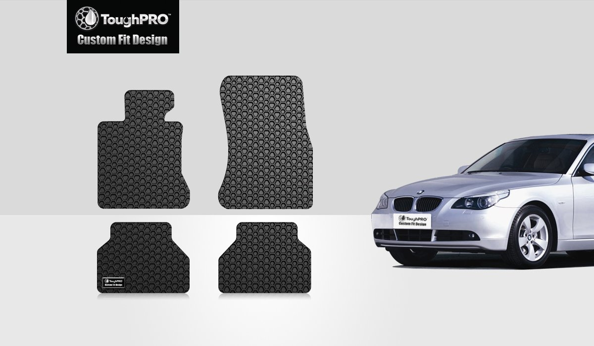HD-Mart Car Floor Mat for BMW New 5 Series 2017 2018 2019 528i 525i 530i 540i G30 G31 Custom Fit Rubber Black Auto Floor Liners Set All Weather Protection Heavy Duty Odorless