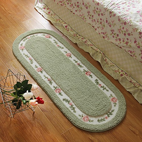 [해외]스테이 영 ® 대형 45 * 125cm 플로랄 & amp; /Stay Young® Large Size 45*125cm Floral & Rural Rug Beautiful & Romantic Rose Flower Rug Shaggy Area Rug Soft Doormat Floor Mat Bedroom Carpet / Non Slip Absorbent Bath Mat Ba...