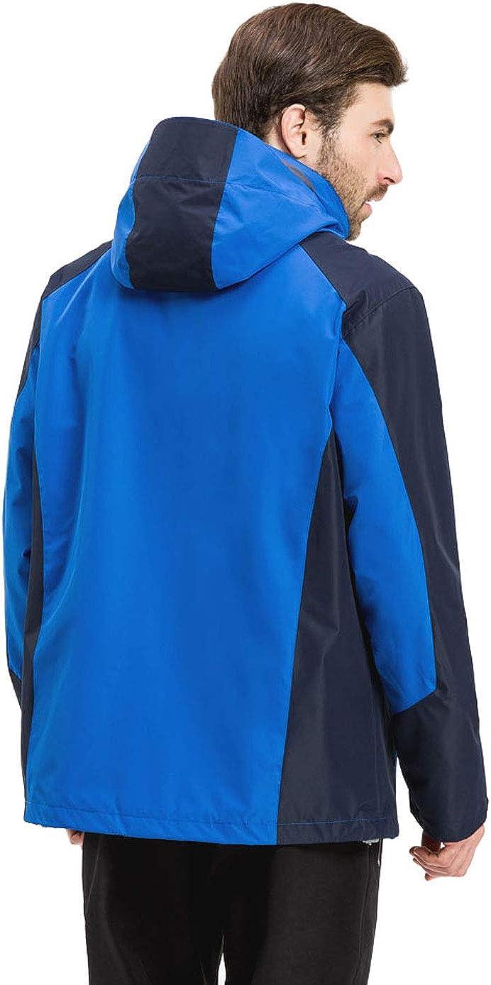 LANBAOSI Mens 3 in 1 Windproof Snowboard Jacket with Detachable Fleece Liner