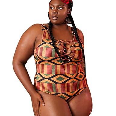 SHOBDW Bikini de Mujer Cuello en V Push up Talle Alto Nergo ...