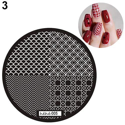 Nail Stamp gLoaSublim,13 Designs Nail Art Pattern Stamp Template Image Stamping Plates DIY Manicure - 3