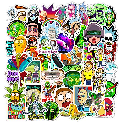 🥇 Acekar Rick and Morty Stickers for Hydro Flask