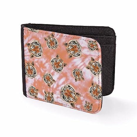 Billetera Impresa para Hombre & Tarjetero Caras de Tigres abstractas Billeteras de Viaje para Hombre