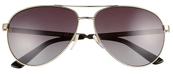 11f58f069f Amazon.com  GUCCI Aviator Sunglasses Metal Gold Polarized 61mm 0237 2281   Clothing