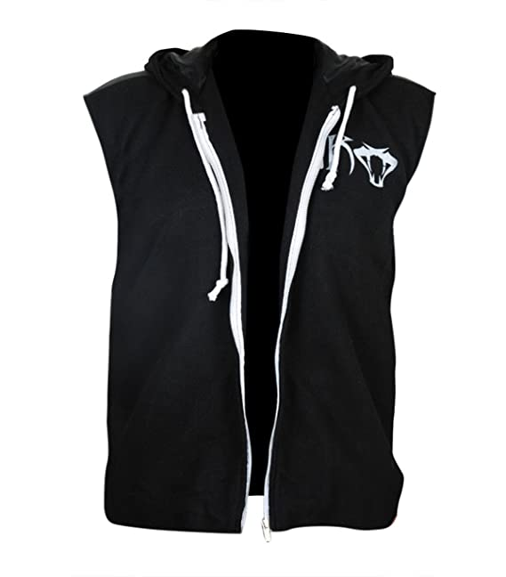 LP-FACON Mens Orton Viper Logo Black Fleece Hoodie Vest at Amazon Mens Clothing store: