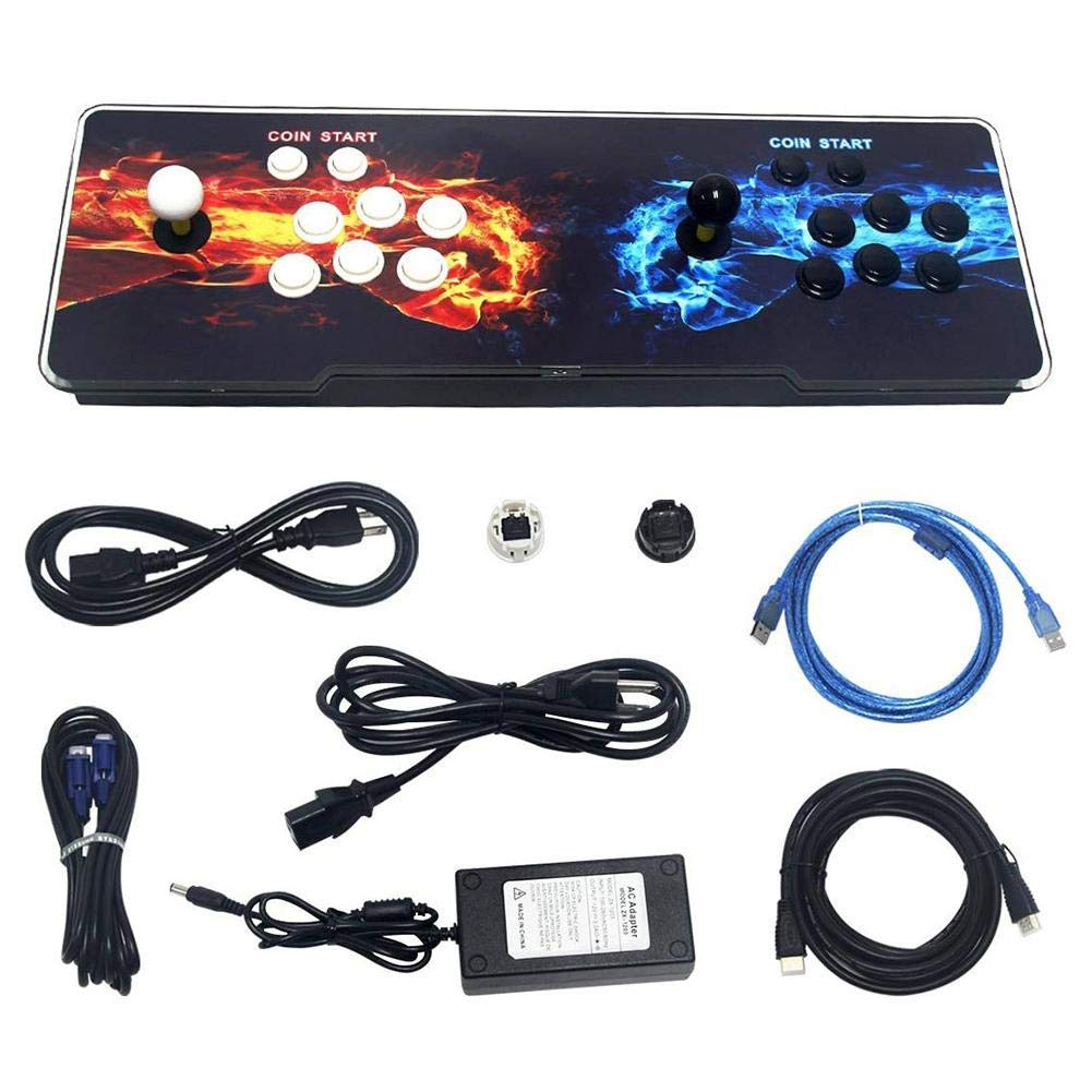 SeeKool Pandora 11 Arcade Video Game Console, 2255 in 1 Retro Video Games Colorful LED Double Stick Arcade Console, HDMI VGA USB Newest System Arcade Machine, Built-in Speaker by SeeKool (Image #9)