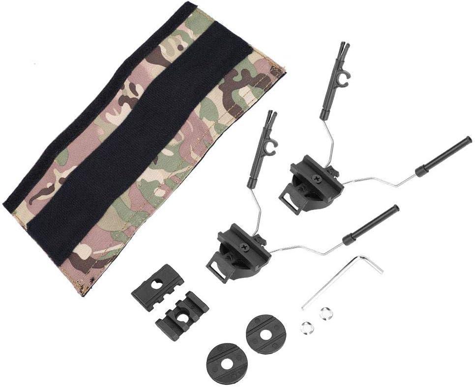 Tbest Adaptador de Riel de Casco,Juego de Adaptador de Carril de Casco ARC Adaptador de Riel de Auriculares Soporte Helmet Rail Adapter para Casco R/ápido para Casco T/áctico ACH Mich IBH