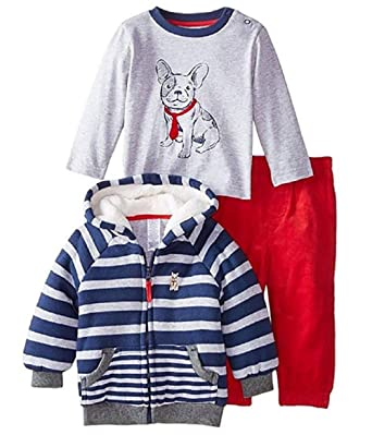 47dc2f3e9 Amazon.com  Little Me Toddler Boys  Dog 3-Piece Jacket Set  Clothing