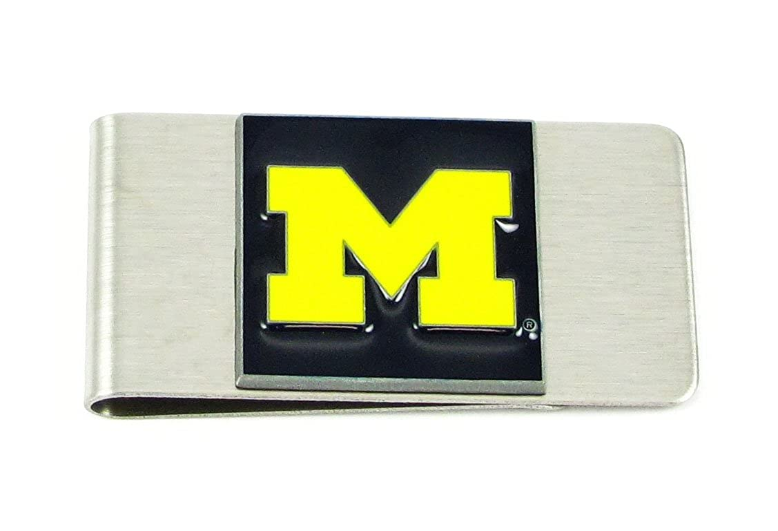 Michigan Wolverines College Large Money Clip