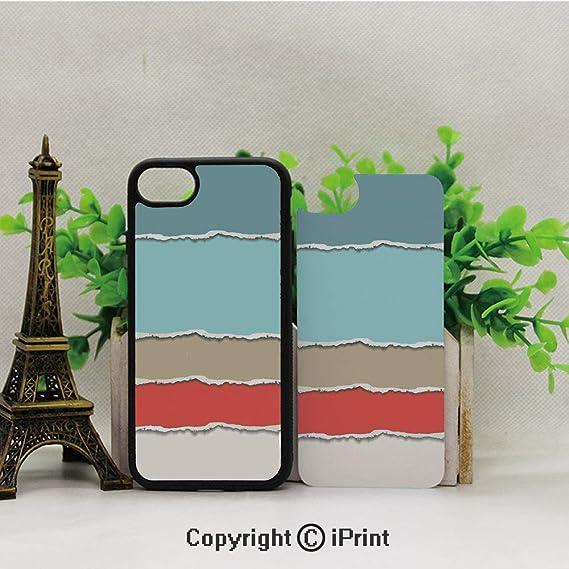 Amazon com: iPhone 8 Case,iPhone 7 Case,Torn-Paper-Illustration-in