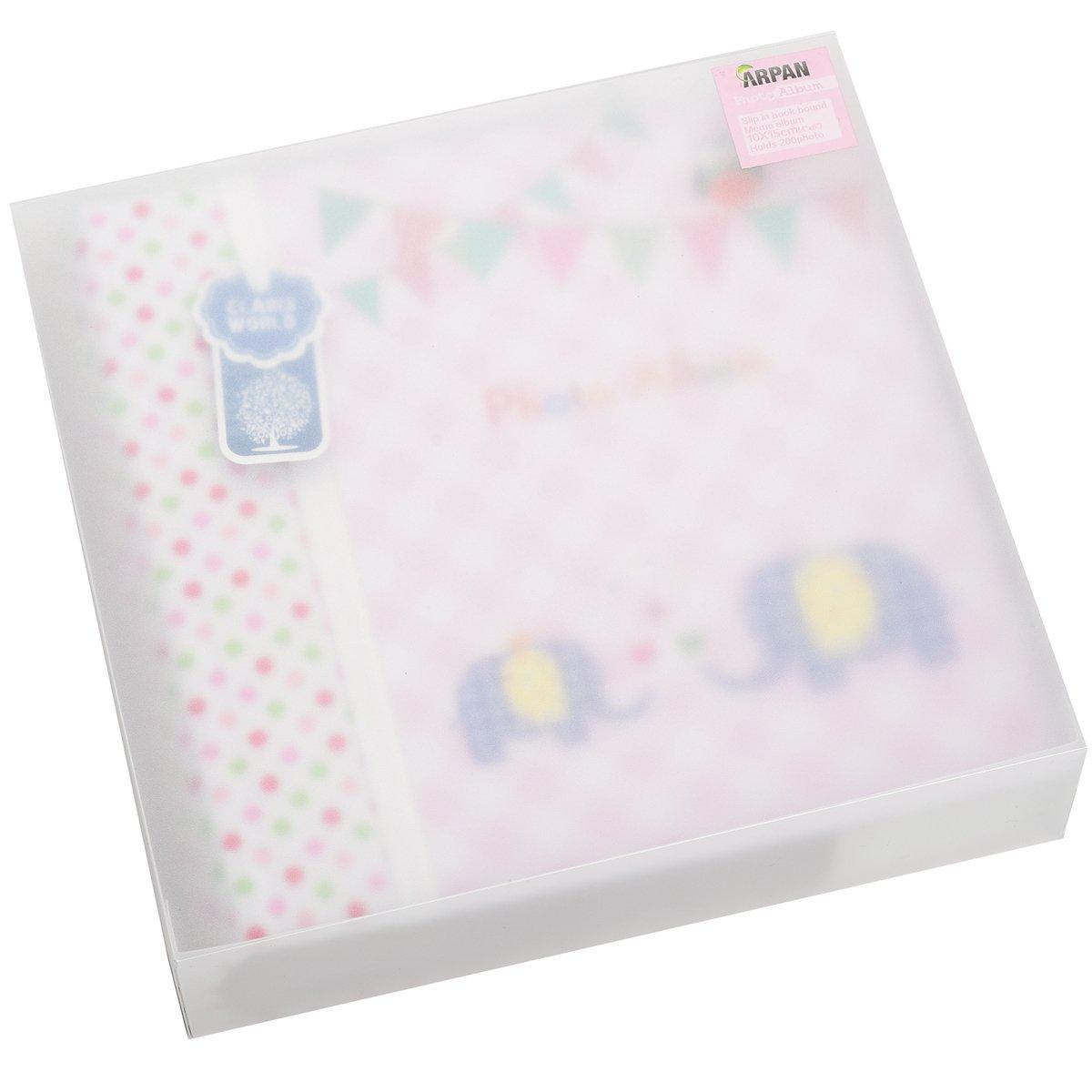 Apan Große Baby-Rosa- Memo Slip In Fotoalbum 200 6x4 '' Fotos - Elephant Kinder -Ideale Geschenk ARPAN BA-9857