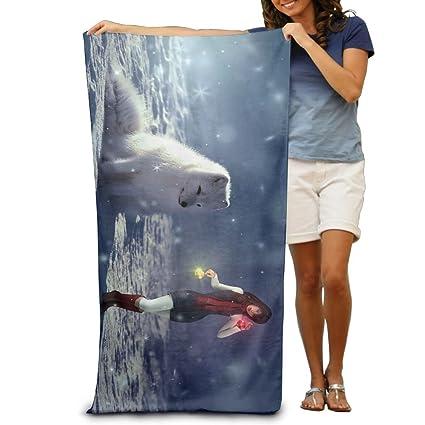 Premium calidad invierno Nieve perro niña grande toalla de playa piscina toalla, toallas de baño