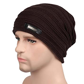 9714fc08135 Unisex Men and Women Skull Cap Scarf Head Cap Outdoor Beanie Cancer Hat  Turban Thick Crochet