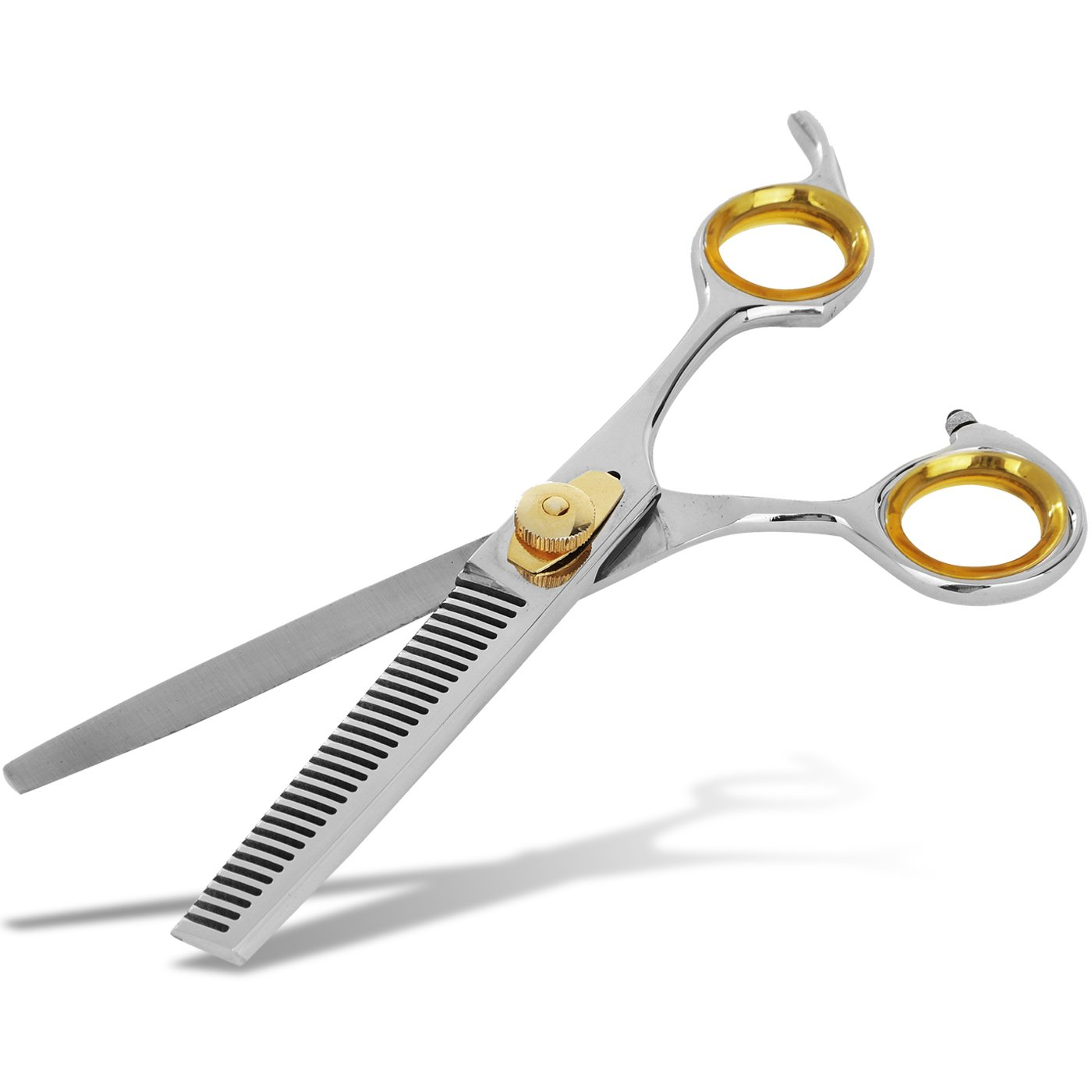 SHARF Professional Thinning Barber Scissors: Sharp 440c Japanese Thinning Shears 6.5''| 30 Teeth Gold Touch Hair Cutting/Texturizing Scissors w/Easy Grip Handles| Must-Have Hairdresser & Home Scissors by Sharf