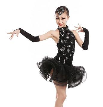 9da090d11 Ropa de baile latino femenino niños baile de encaje latino ropa de ...