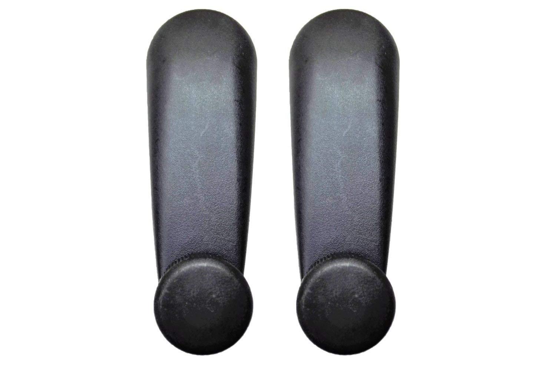 Left//Right Pair Black Interior Inner Inside Window Crank Handle PT Auto Warehouse GM-1007A-P