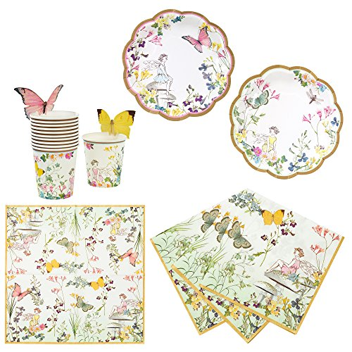 Talking Tables Truly Fairy Party Bundle | Designer Plates, Napkins, and Cups for a Fairy Themed Party -