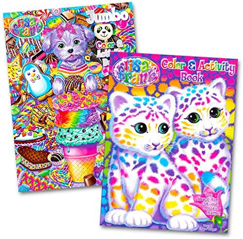 Lisa Frank Coloring and Activity Book Set (2 Books)