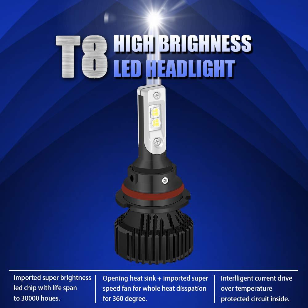 ngcat alta calidad 2pcs 10000 lúmenes 16 xhp50 Chips LED 9007 HB5 Pure White 6500 K bombillas LED Hi/lo All-in-One impermeable LED Kit de conversión faros ...