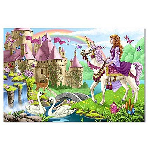 Wooden Fairy Castle - Amazing Melissa and Doug Fairytale Castle Floor Puzzle