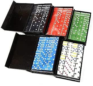 Yangmg Juego de dominó de 28 Piezas Juego de dominó de Color Dominó de Caja Simple Juguete de dominó Tarjeta de Juego Casual for niños Hogar Familia Viajar: Amazon.es: Juguetes y juegos