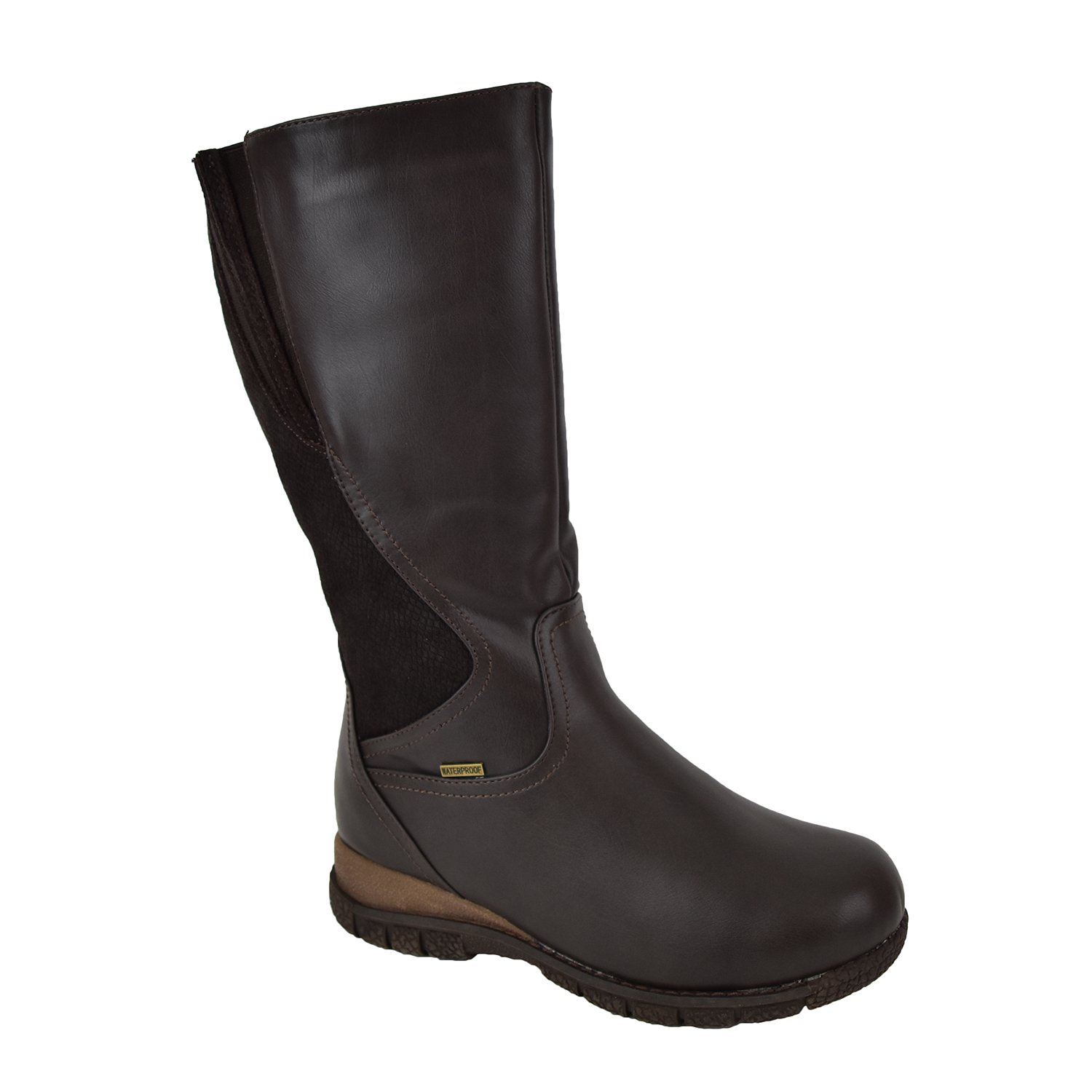 Comfy Moda Women's Winter Boots Waterproof 3M Thinsulate Wide Toe Toasty Warm Temperature Rating -25°F/-32°C Alberta Brown