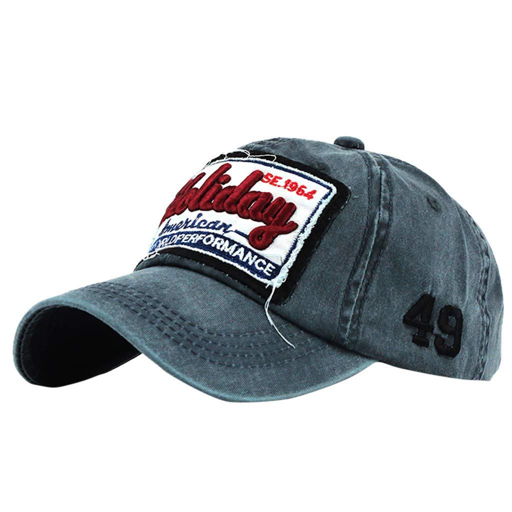 ManlinG7* Cappello da Baseball Cappello Uomo Estivo Unisex Adulto Regolabile retr/ò cap Hat per Camping e outdoo,Arrampicata