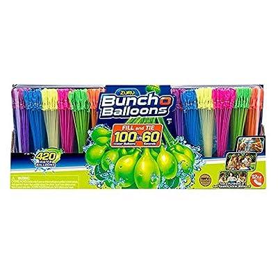 Bunch O Balloons Zuru 420 Self-Sealing Water Balloons - New Vibrant Colors (420): Sports & Outdoors