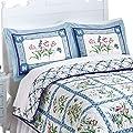 Summer Breeze Floral Pillow Sham, Machine Washable, Polyester