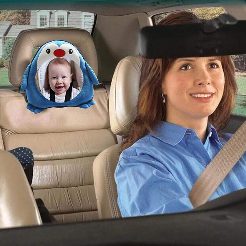 R/ückspiegel Baby Auto Baby Autospiegel Sicherheitsspiegel 24cm/×26cm mit Cover Luluspace Autospiegel Baby R/ückspiegel R/ücksitzspiegel f/ür Babys Netter Pinguin