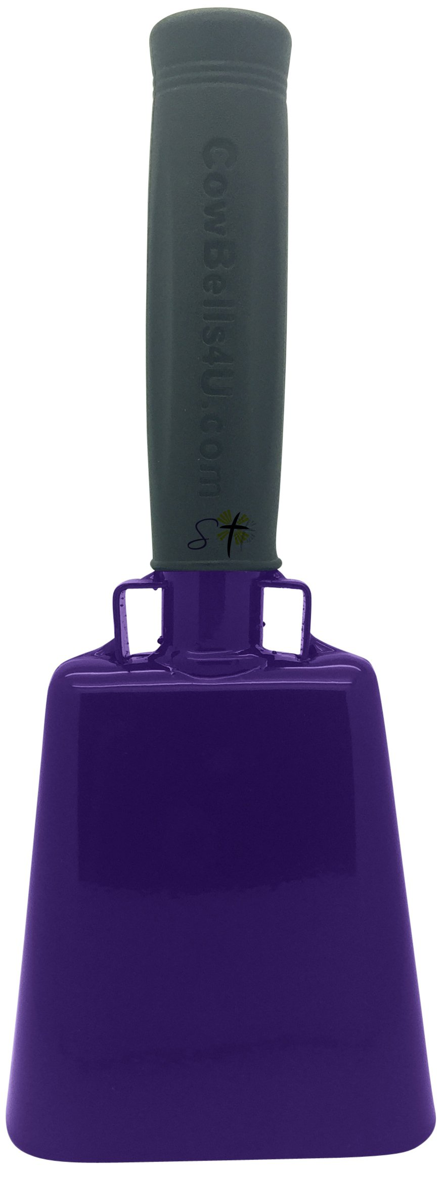 8.6 inch Purple Bell Black Handle Cowbell with Stick Grip Handle Used for Cheering at Sporting Events - Cow Bell by Stewart Trading™