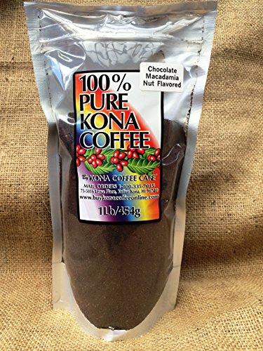 Kona Coffee Train, Chocolate Mac-nut Flavored - 1 Pound