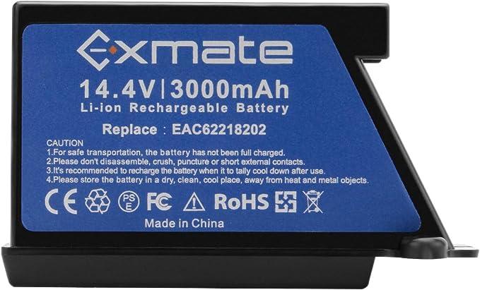 Exmate 14.4V 3.0Ah Litio Batería para LG EAC60766101 EAC60766102 ...