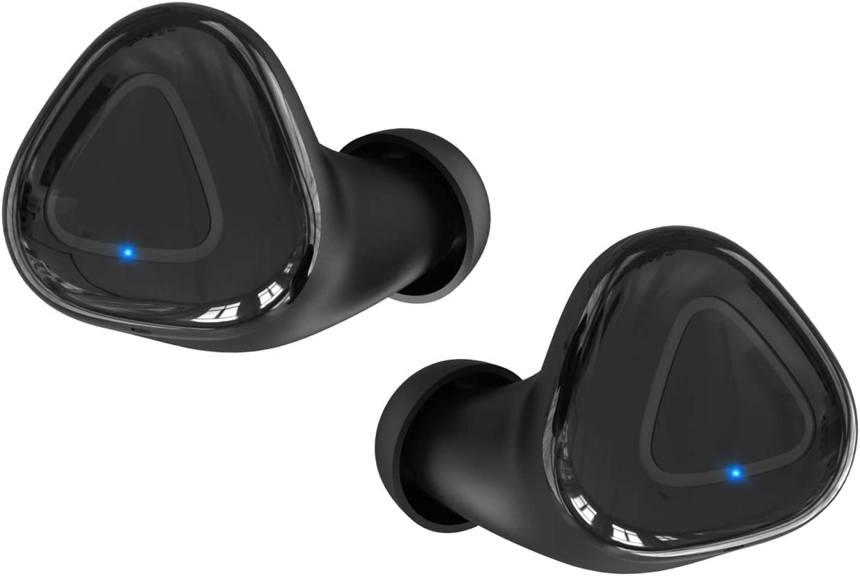ZOVER Wireless Earbuds Bluetooth 5.0 Headphones True Wireless Auto Pairing Stereo Sound Noise Cancelling IPX7 Waterproof Cordless Headphones with Charging Box