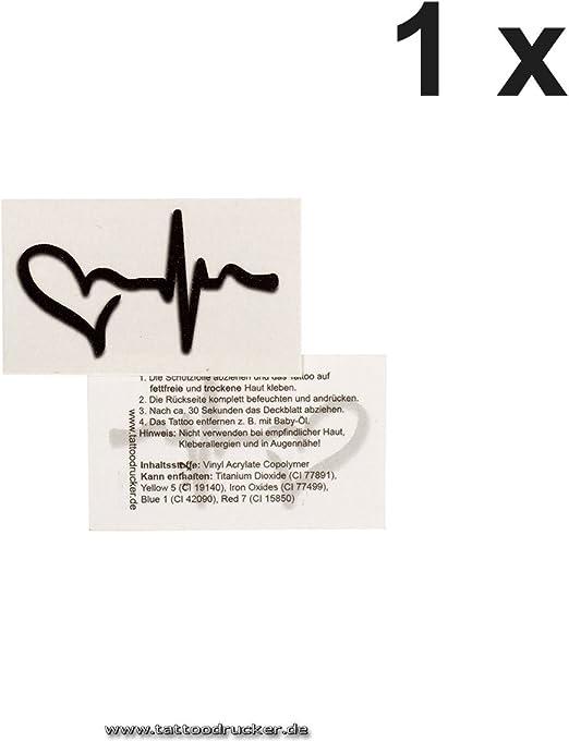 Negro Love de Pulse Símbolo Tattoo – temporäres piel Tattoo – No ...