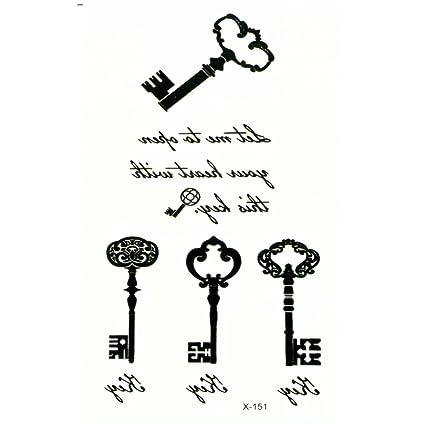 Just Fox - temporäres Tattoo Llave Key: Amazon.es: Belleza